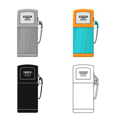 Fuel dispencer icon in cartoon style isolated on vector