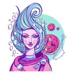 girl symbolizes the zodiac sign scorpio pastel vector image vector image