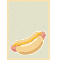 Hot dog background vector image