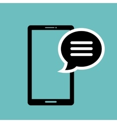 icon smartphone bubble speech graphic isolated vector image