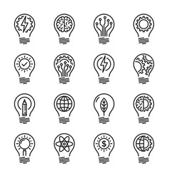 Idea intelligence creativity knowledge thin line vector