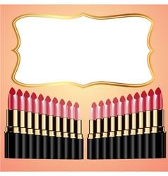 Lipstick background vector