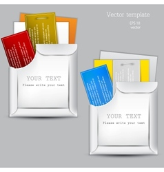 Paper sheets envelopes vector image