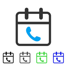 Phone support day flat icon vector
