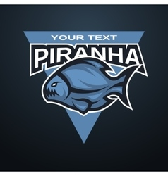 Piranha emblem logo for a sports team vector