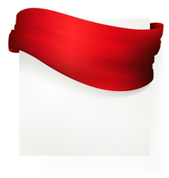 red waving banner drawing vector image