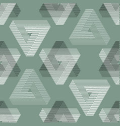 Seamless geometric imagination pattern vector