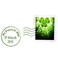 St Patrick's's stamp vector image vector image