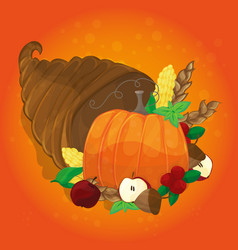 thanksgiving card with decorative pumpkin vector image vector image