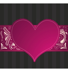 valentine pattern with purple heart vector image