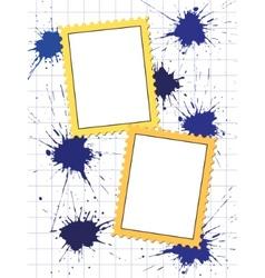 vector postage stamps frame pattern vector image vector image
