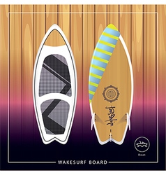 Wakesurf board vector