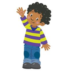funny little boy vector image