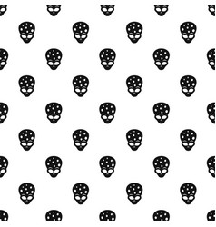 extraterrestrial alien head pattern vector image