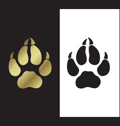 Symbol of the year trace of dog s paws vector