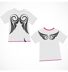 T-shirt design - wings vector