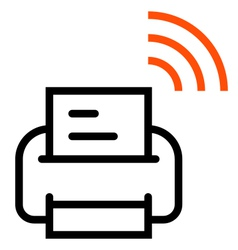 Printer with Wifi icon vector image