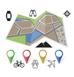 Flat location icon vector