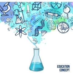 Education concept sketch vector