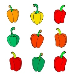 Icon peppers vector