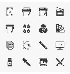 Set of printing icons vector