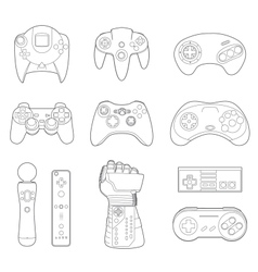 Video game controllers icon set vector
