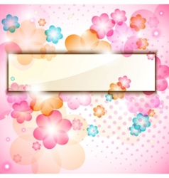 Colorful flower frame vector