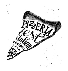 Pizzeria hand drawn lettering vector image