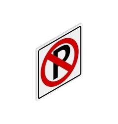 Parking is prohibited icon isometric 3d style vector