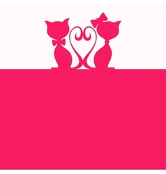 Abstract background with two cats vector image vector image
