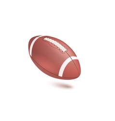 American striped football ball diagonal position vector
