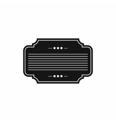 Badge with three stars icon simple style vector