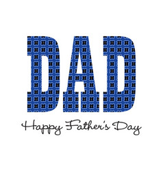 blue bandana happy fathers day vector image vector image