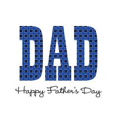 Blue bandana happy fathers day vector