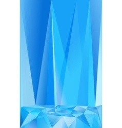 Blue triangles abstract poster background vector image vector image