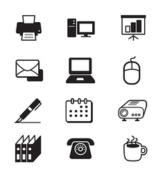 Business office tools icon set vector image vector image