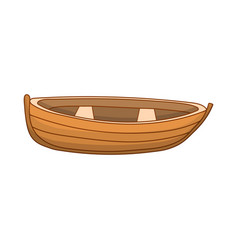 cute colored boat vector image vector image