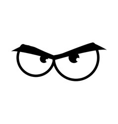 Eye angry look vision optical icon vector