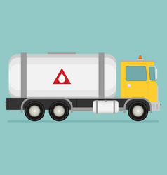 gas truck flat vector image