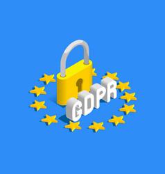 Gdpr eu flag banner vector