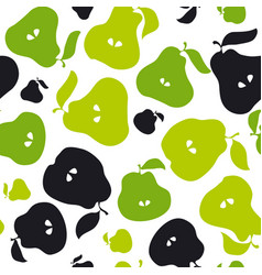 Green pear fruit seamless pattern for fabric vector