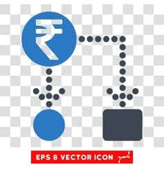 Indian rupee cashflow eps icon vector
