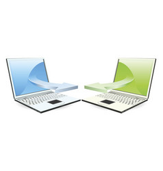 laptops communicating vector image