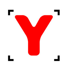 letter y sign design template element red vector image