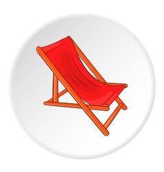 Lounger icon cartoon style vector image vector image