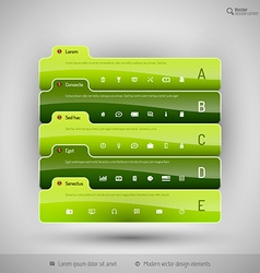 Modern business tabs for infographics vector
