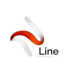 Modern ribbon logo vector image