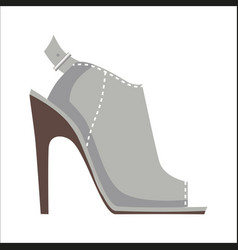 Mules shoe with high heel isolated vector