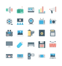 Music and multimedia icons 2 vector