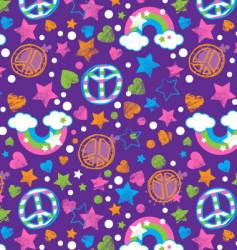 peace and rainbows vector image vector image